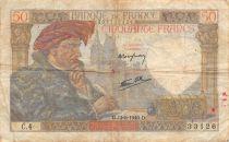France 50 Francs Jacques Coeur - 13-06-1940 Série C.4 - TB