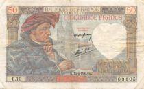France 50 Francs Jacques Coeur - 13-06-1940 Série E.10 - TTB