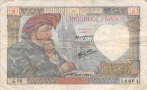 France 50 Francs Jacques Coeur - 13-06-1940 Série E.8 - TB
