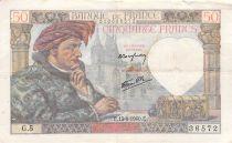 France 50 Francs Jacques Coeur - 13-06-1940 Série G.5 - TB