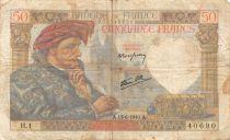 France 50 Francs Jacques Coeur - 13-06-1940 Série H.1 - TB