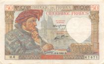 France 50 Francs Jacques Coeur - 13-06-1940 Série H.6 - TTB