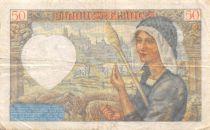 France 50 Francs Jacques Coeur - 13-06-1940 Série Q.10 - TTB