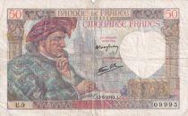 France 50 Francs Jacques Coeur - 13-06-1940 Série U.9 - TB+