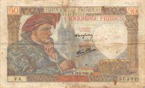 France 50 Francs Jacques Coeur - 13-06-1940 Série V.1 - TB