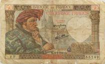 France 50 Francs Jacques Coeur - 13-06-1940 Série V.7 - PTB