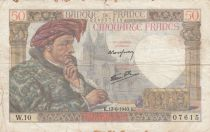 France 50 Francs Jacques Coeur - 13-06-1940 Série W.10 - TB