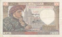 France 50 Francs Jacques Coeur - 13/2/1941 - Série C.40  Nº 67513