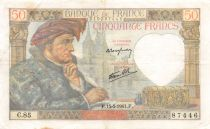 France 50 Francs Jacques Coeur - 15-05-1941 Serial C.85 - VF