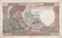 France 50 Francs Jacques Coeur - 15-05-1942 Série B.170 - TB+
