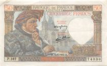 France 50 Francs Jacques Coeur - 15-05-1942 Série P.167 - TTB