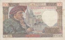 France 50 Francs Jacques Coeur - 15-05-1942 Série U.168
