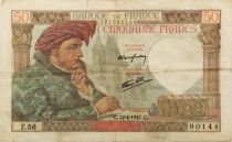 France 50 Francs Jacques Coeur - 17-04-1941 Série E.56 - TTB