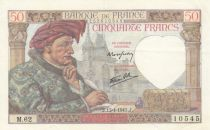 France 50 Francs Jacques Coeur - 17-04-1941 Série M.62 - SUP