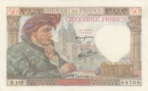 France 50 Francs Jacques Coeur - 17-07-1941 Série F.102 - SUP