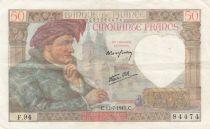 France 50 Francs Jacques Coeur - 17-07-1941 Série F.94