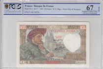 France 50 Francs Jacques Coeur - 18-12-1941 Serial F.142 - PCGS 67OPQ