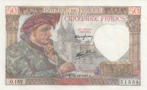 France 50 Francs Jacques Coeur - 18-12-1941 Serial O.152