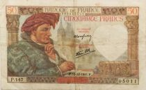 France 50 Francs Jacques Coeur - 18-12-1941 Serial P.147 - VF