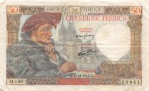 France 50 Francs Jacques Coeur - 18-12-1941 Série D.148 - TTB