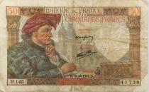 France 50 Francs Jacques Coeur - 18-12-1941 Série H.145 - PTTB