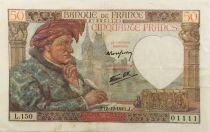 France 50 Francs Jacques Coeur - 18-12-1941 Série L.150 - TTB+