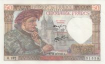 France 50 Francs Jacques Coeur - 18-12-1941 Série O.152