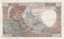 France 50 Francs Jacques Coeur - 18-12-1941 Série P.145