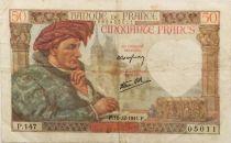 France 50 Francs Jacques Coeur - 18-12-1941 Série P.147 - TTB