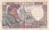 France 50 Francs Jacques Coeur - 18-12-1941 Série S.149- TTB
