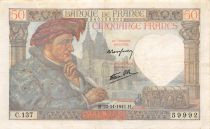 France 50 Francs Jacques Coeur - 20-11-1941 Serial C.137 - VF