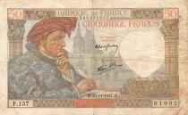 France 50 Francs Jacques Coeur - 20-11-1941 Série F.137 - TTB