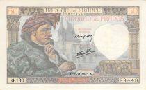 France 50 Francs Jacques Coeur - 20-11-1941 Série G.130 - TTB