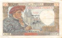 France 50 Francs Jacques Coeur - 20-11-1941 Série K.139 - TTB