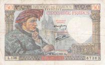 France 50 Francs Jacques Coeur - 20-11-1941 Série L.136 - TB+