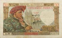 France 50 Francs Jacques Coeur - 23-01-1941 Série B.39 - TTB
