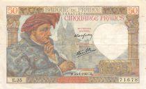 France 50 Francs Jacques Coeur - 23-01-1941 Série E.35 - TTB