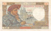 France 50 Francs Jacques Coeur - 23-01-1941 Série E.35 - TTB