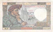 France 50 Francs Jacques Coeur - 23-01-1941 Série M.37 - TB+