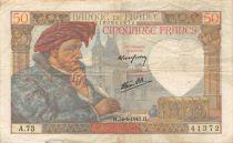 France 50 Francs Jacques Coeur - 24-04-1941 Serial A.73 - VF