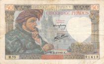 France 50 Francs Jacques Coeur - 24-04-1941 Série H.75 - TB