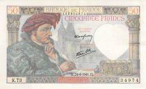 France 50 Francs Jacques Coeur - 24-04-1941 Série K.73 - TTB