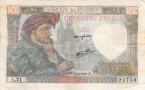 France 50 Francs Jacques Coeur - 24-04-1941 Série L.71 - TB