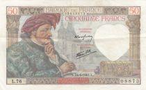 France 50 Francs Jacques Coeur - 24-04-1941 Série L.76