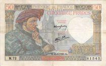 France 50 Francs Jacques Coeur - 24-04-1941 Série M.72 - TB+