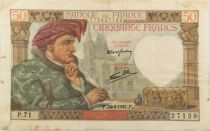 France 50 Francs Jacques Coeur - 24-04-1941 Série P.71 - TTB