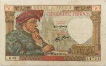 France 50 Francs Jacques Coeur - 24-04-1941 Série Q.75 - TTB