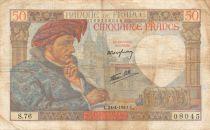 France 50 Francs Jacques Coeur - 24-04-1941 Série S.76 - PTTB
