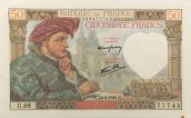 France 50 Francs Jacques Coeur - 24-04-1941 Série U.68 - SUP