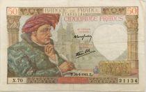 France 50 Francs Jacques Coeur - 24-04-1941 Série X.70 - TTB